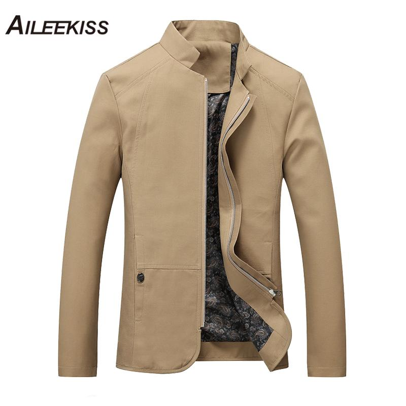 8643992b67c 2018 Autumn Summer Spring Men Jacket Cotton Cargo Jackets New Design Plus  Size Solid Casual Stand Male Windbreaker Cool XT316 D18100902 Man Leather  Jacket ...