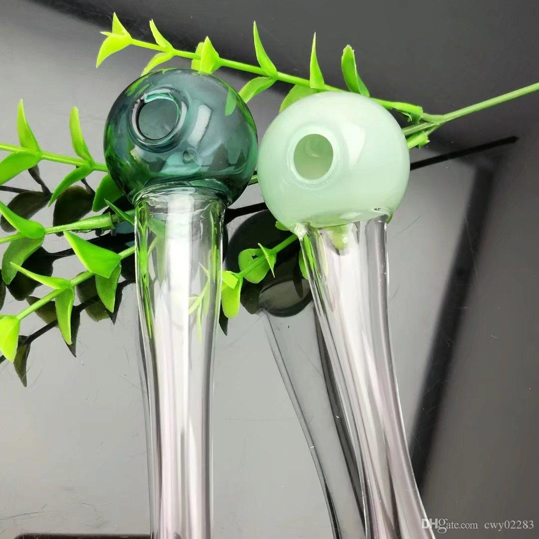 Круглый шар стеклянная труба, оптовые стеклянные бонги, трубы для горелок, водопроводные трубы