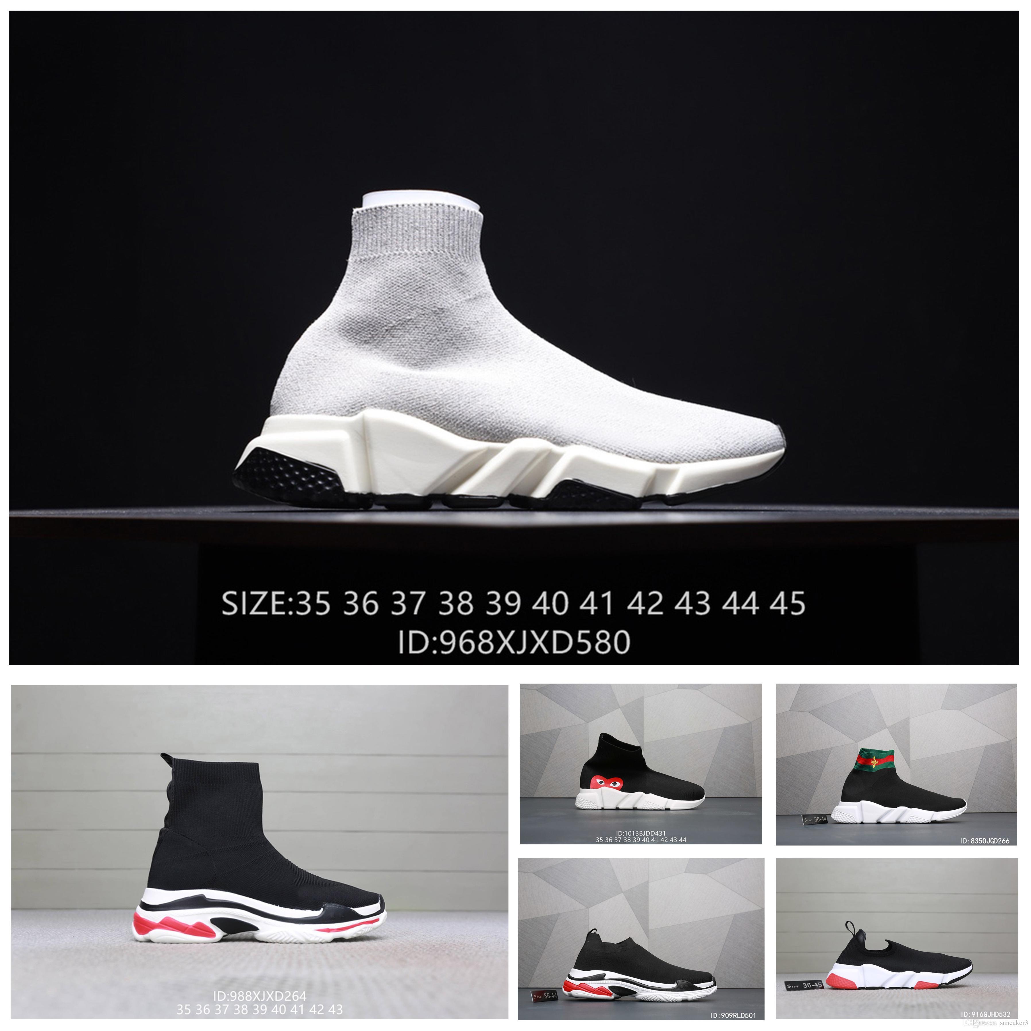 Grosshandel Balenciaga Shoes Scarpe Gucci Luxus Marke Mit Box Herren