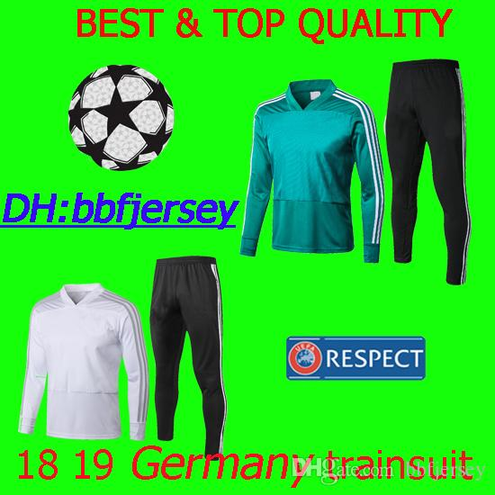 promo code 60f99 e89f6 thai 18 19 soccer jerseys Thomas Muller Klose Werner jersey football  maillot de foot football Germany training suit pants football tracksuit