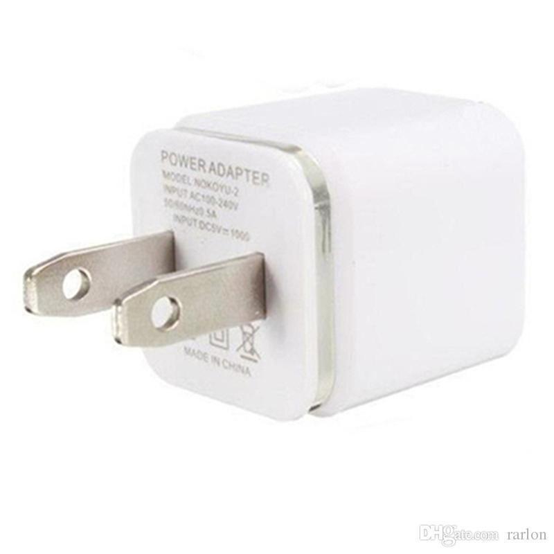 Metal Dual USB wall Charging Charger US EU Plug 2.1A AC Power Adapter Wall Charger Plug 2 port for Samsung Galaxy Note 10 LG