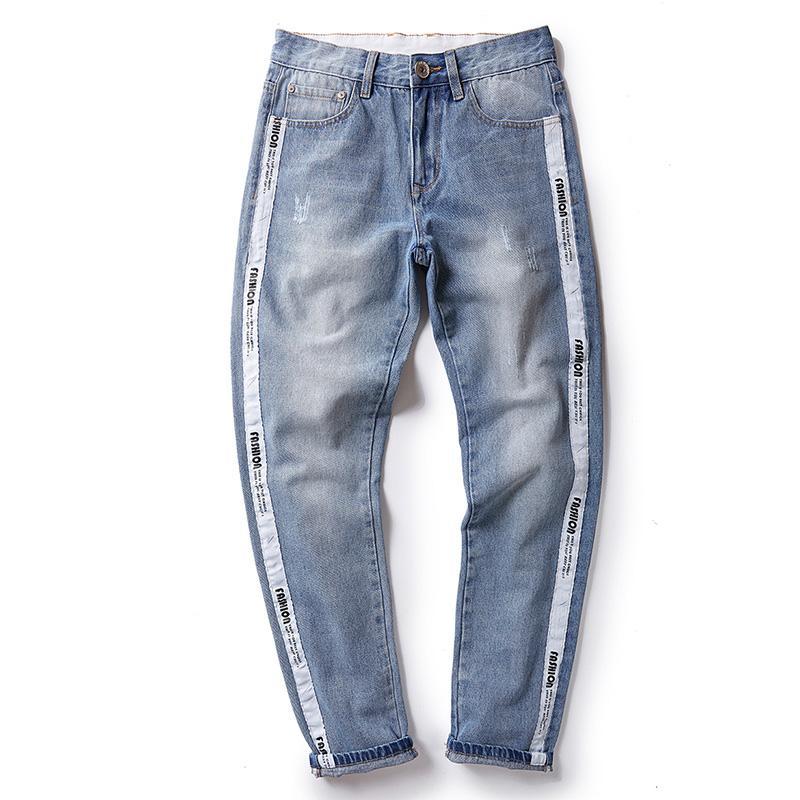 Acheter Nouvelle Marque Hommes Jeans Qualité 2018 Nouvelle Arrivée Jeans  Hommes Mode Slim Fit Denim Pantalon Hommes Pantalon Grande Grande Taille 30  42 44 ... b14d180ddfc7