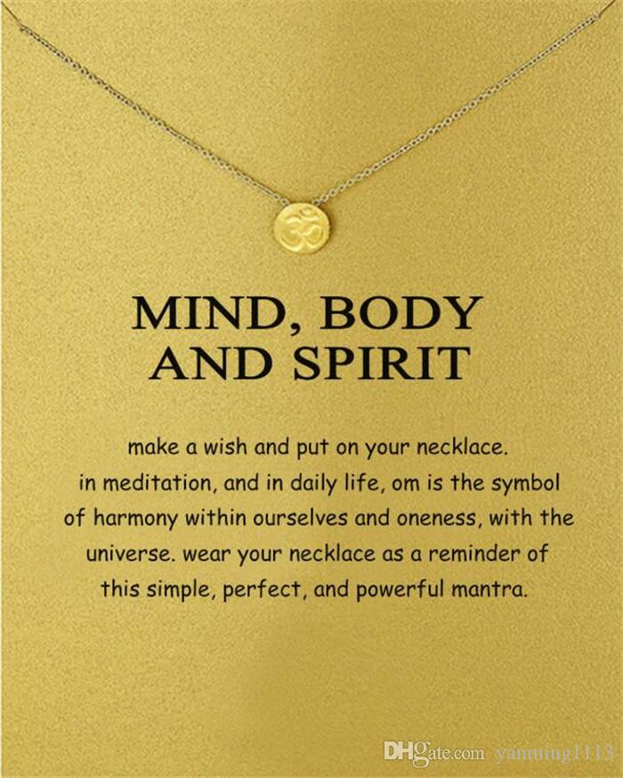 New Round sports medals Pendant Necklace Mind Body AND Spirit Dogeared Fashion Clavicle Jewelry For Women Girl Party wedding GIFT