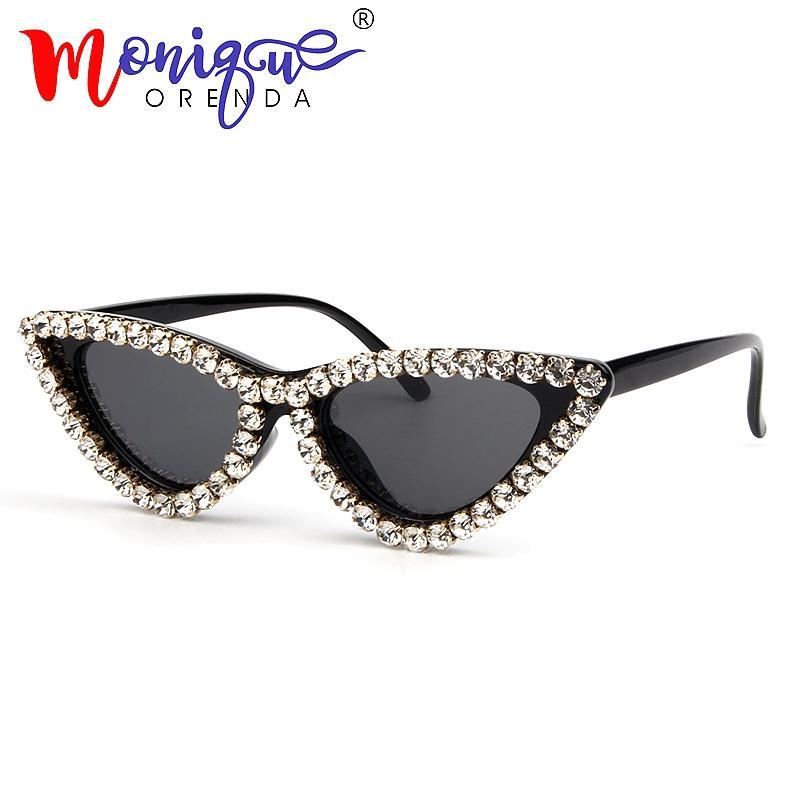 2ce7c3d737 2018 Fashion Cat Eye Sunglasses Women Vintage Brand Small Luxury Ladies  Rhinestone Sun Glasses Female Oculos De Sol UV400 Online with  22.19 Piece  on ...