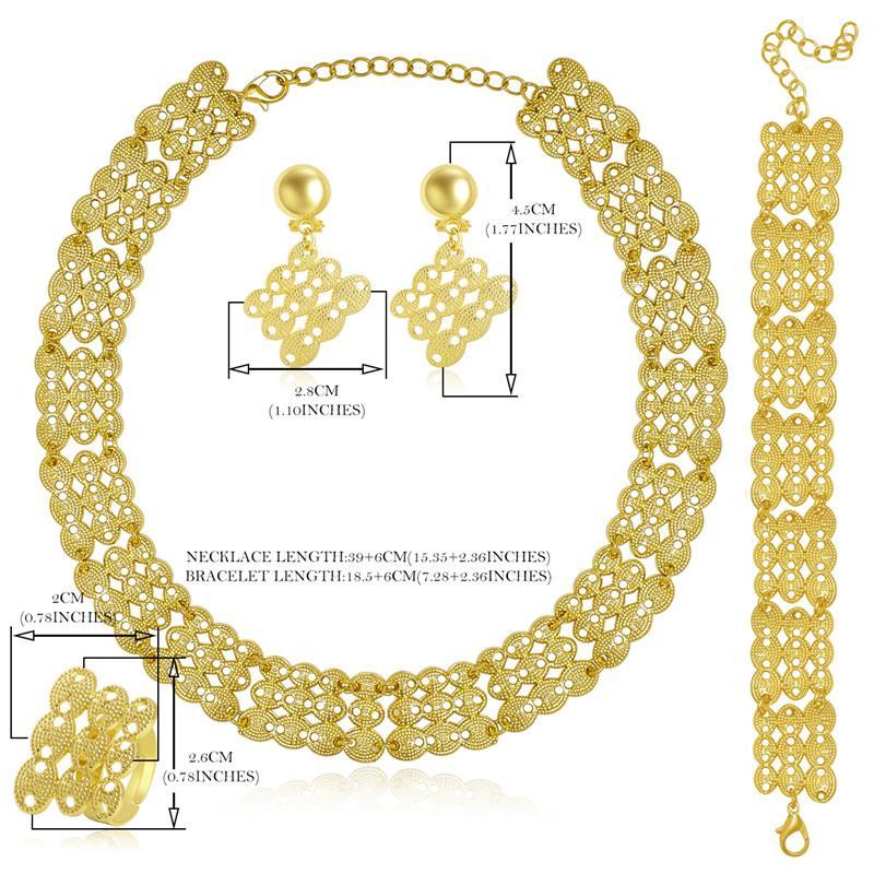 OUMEILY 2018 Dubai Set di gioielli africani Set di gioielli di nozze nigeriani le donne Spose Set di gioielli etiopi indiano di colore oro