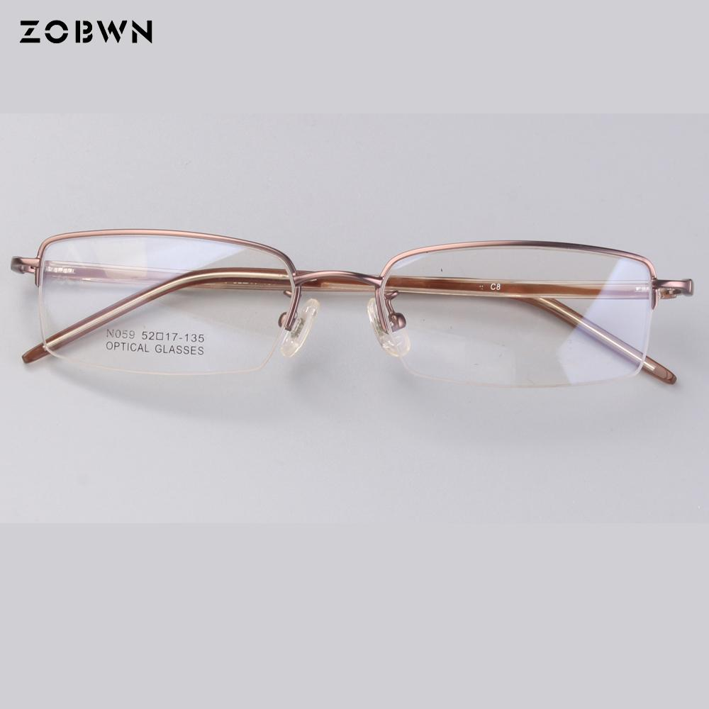 92fb7417b5a 2019 Classic Half Frame Clear Lens Glasses Men Women Metal Frame Eyeglass  Optical Prescription Jacques Lemans Frames Spectacle From Huazu
