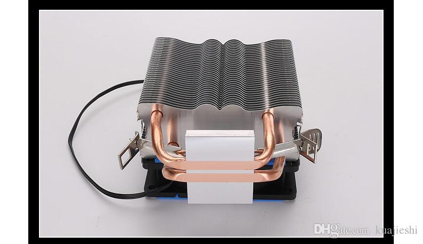 Desktop multi platform CPU fan double heat pipe desktop computer silent radiator fan Type heat sink Material aluminum copper