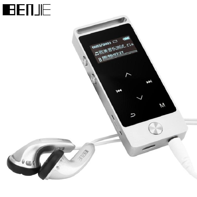 94f2e141c21 BENJIE MP3 Player With Sport Armband Mini MP3 Music Player Sport Touch  Screen 8G Portable TF FM Record OLED Sliver Mp3 Player Free Mp3 Player  Headphones ...