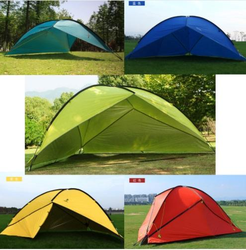 Hillman Outdoor Large Space Triangle Pergola Camping Tent Family Beach Sunshade Party Awning 1 Wall/2 Wall/3 Wall Tent UV Shed