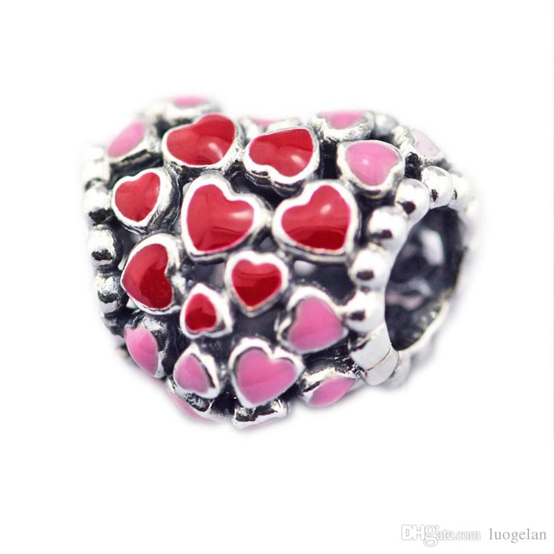 0315c4d87543b 2018 Spring 925 Sterling Silver Jewelry Burst of Love Charm, Mixed Enamel  Charms Original Beads Fits women Jewelry Making Pandora Bracelets