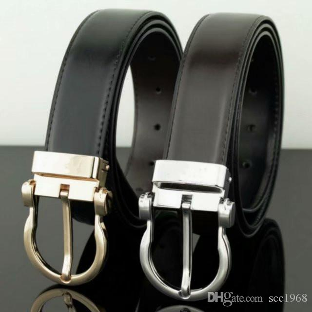 New Men's Genuine leather Belt Vintage Male Pin Buckle Belt Luxury Designer Cinto macho for gift