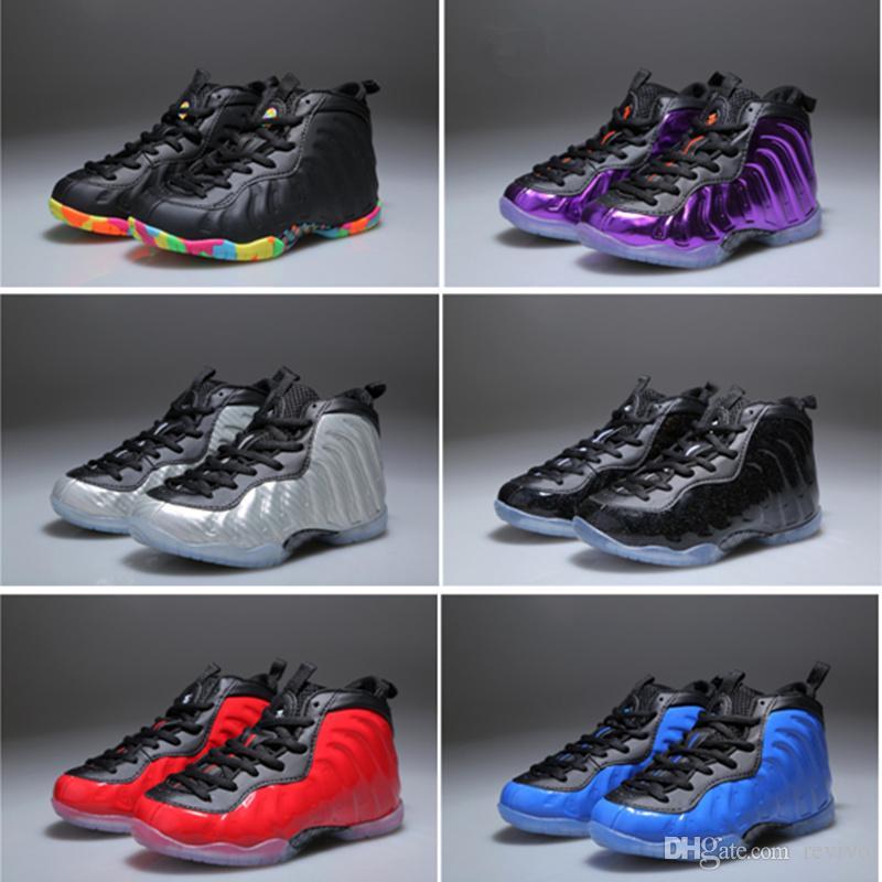 9eff57c77f80c Acheter 2018 New Basketball Chaussures Enfants Penny Hardaway Basket Ball  Sneakers Garçons Filles Sport Sneakers Enfants Taille 28 35 De  36.55 Du  Revivo ...