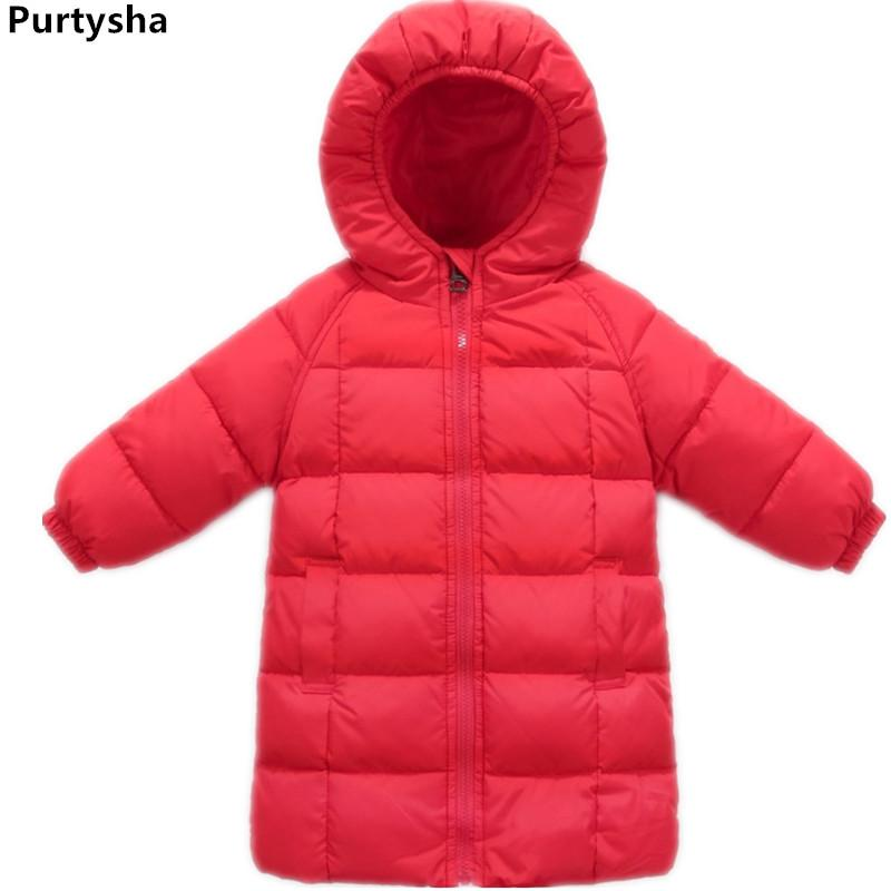 87d64228ebd7 Toddler Girl Winter Clothes Red Pink Green Long Hoodie Down Jacket ...