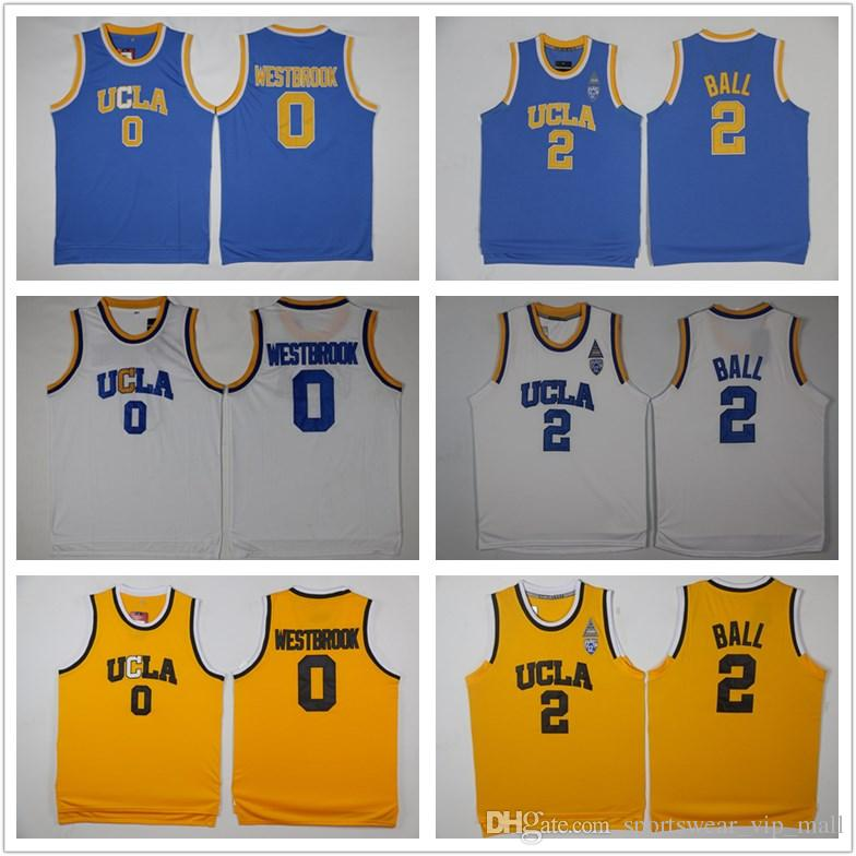 on sale 38d4f 36dc4 NCAA UCLA Bruins Jersey 2 Lonzo Ball 0 Russell Westbrook 42 Kevin Love  Reggie Miller blue white yellow Stitched College Basketball Jerseys