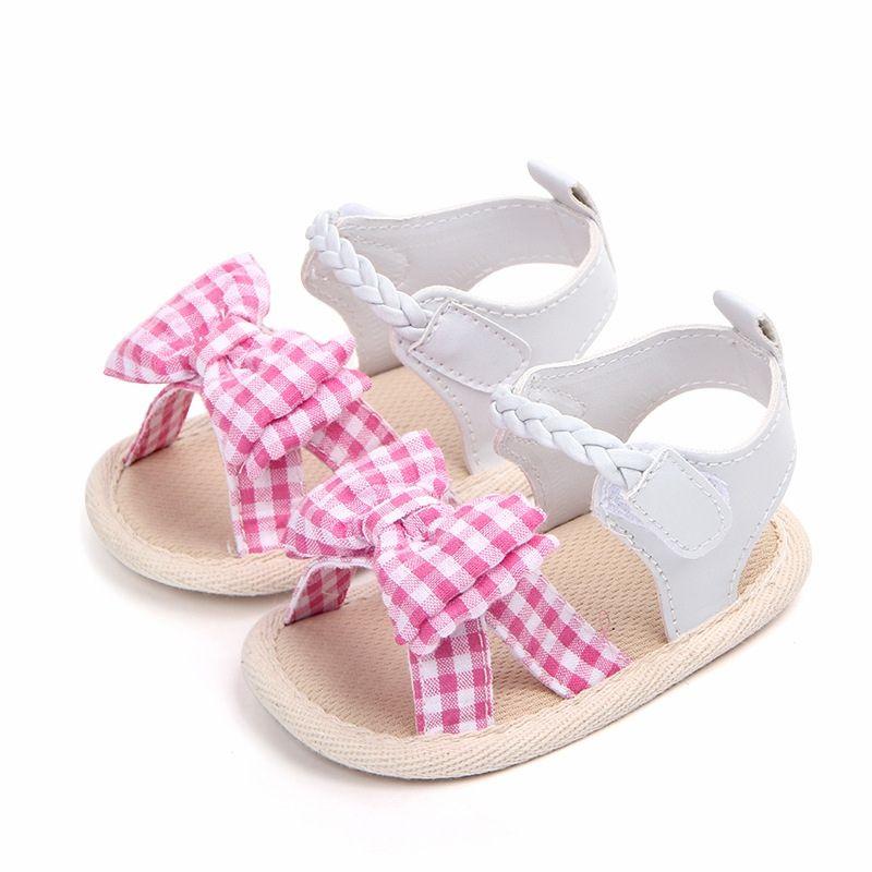 10343fdfda96c ... Bébé Filles Sandales Mignons Chaussures De Berceau Chaussures D été  Nouveau Né Chaussures Pour Bébés Bébé Bowknot Anti Dérapant Sandales Pour  Enfants De ...