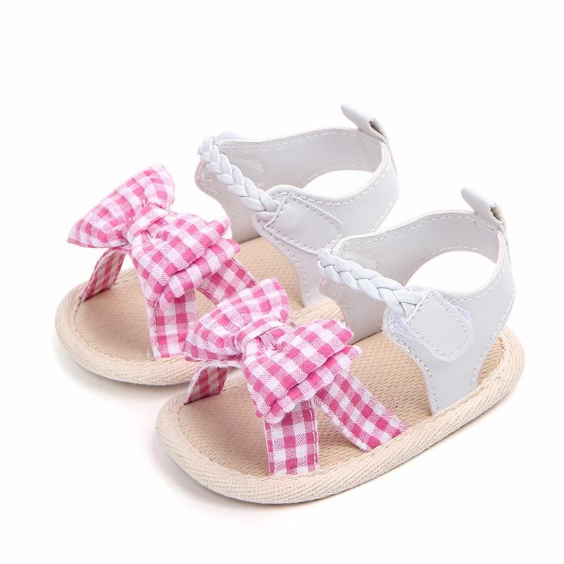 Bebés Lindas Zapatos De Niñas Cuna Recién Nacidos Sandalias Verano Bowknot Para Antideslizantes Bebé RjLA3Sc54q