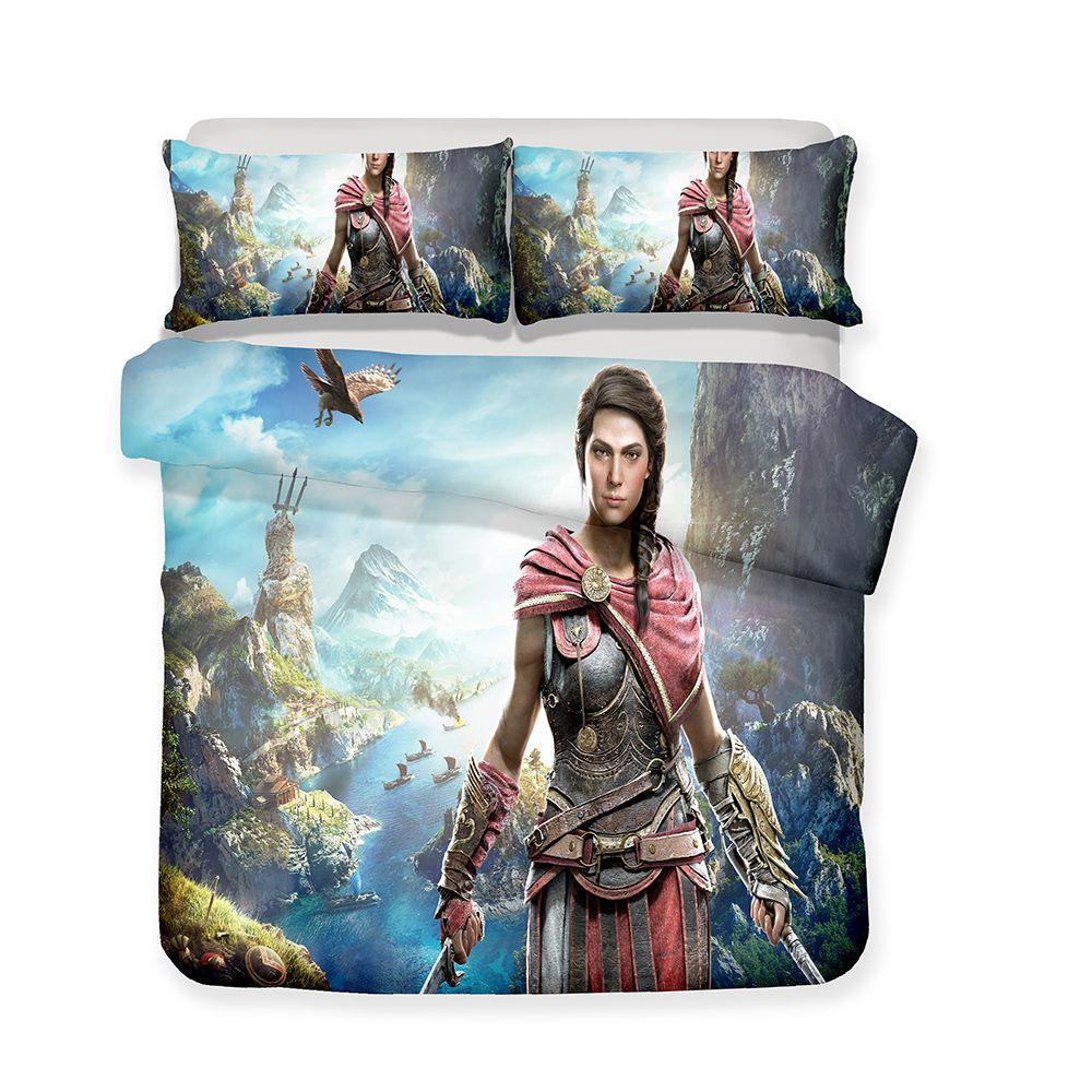 Großhandel 3d Gedruckte Bettwäsche Assassins Creed Odyssey Game
