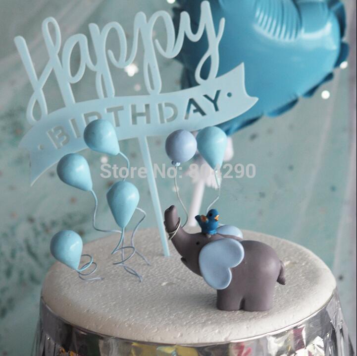 Grosshandel Elefant Mit Vogel Und Ballon Kuchen Dekoration Geburtstag