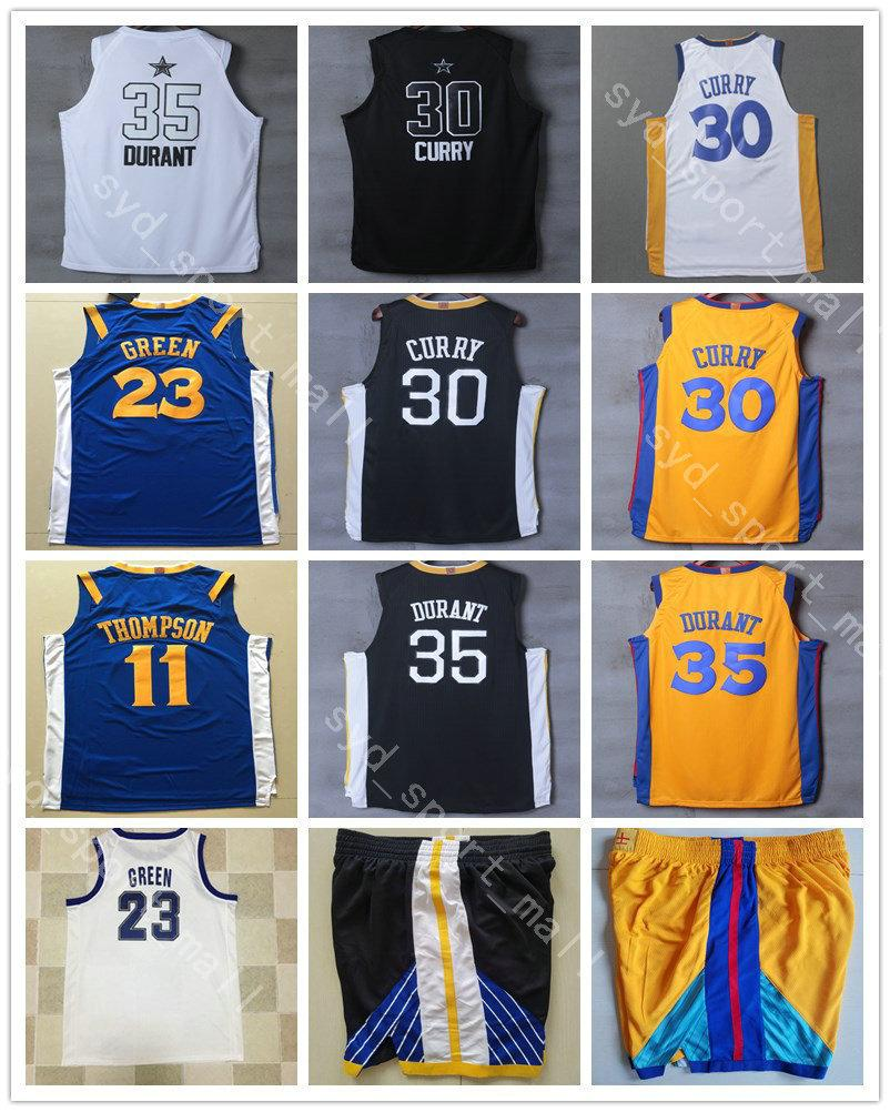 af1fcb40d38a 2018 City Edition 35 Kevin Durant 30 Stephen Curry Jerseys Basketball  College Andre Iguodala 11 Klay Thompson 23 Draymond Green Size S-XXXL  Stephen Curry ...