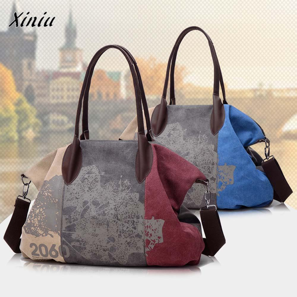 50a5f12a5186 Xiniu Quality Fashion Women Handbag Shoulder Bag Large Tote Canvas Ladies  Purse Clutch Casual Totes Flap For Female Travel Bags Small Purses Designer  ...