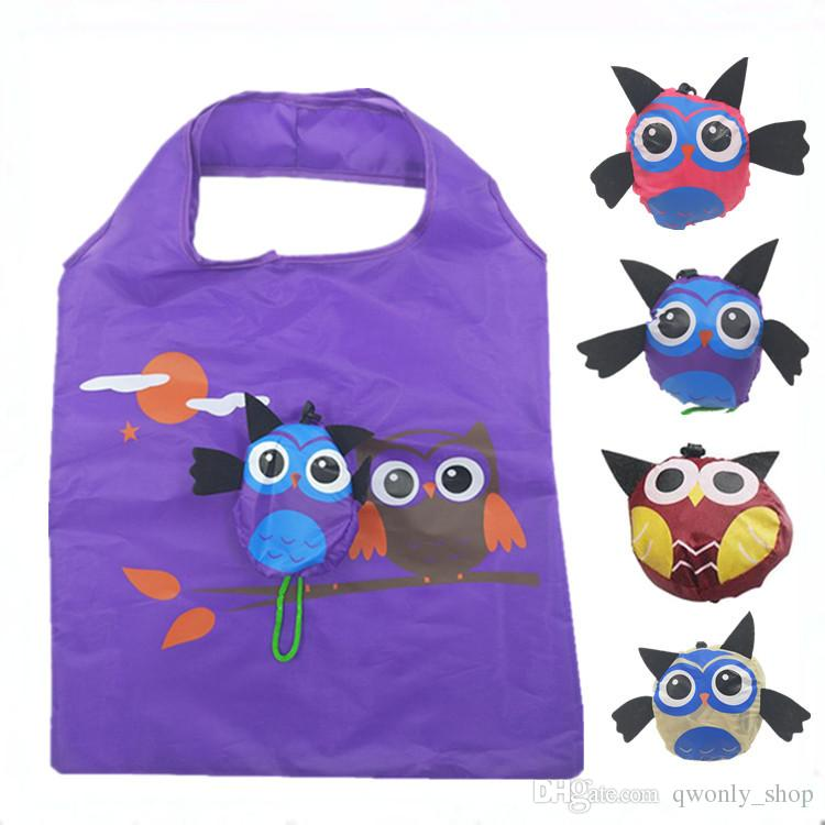 183bf6773a1 Owls Foldable Bag Reusable Eco Friendly Shopping Bags Pouch Storage Handbag  Cartoon Foldable Shopping Bags Folding Tote Non Woven Bags Wine Bags From  ...