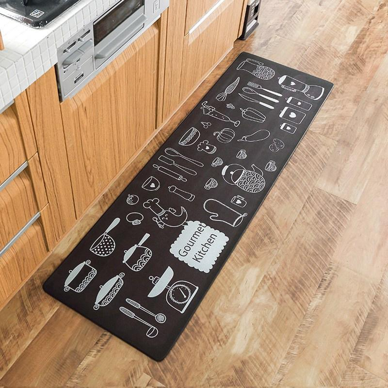 Cartoon Print Fußmatte Teppiche Küche Teppich Rutschfeste Lange Schutz  Bodenmatten Pvc-matte für Küche Teppich Wasserdichte Schlafzimmer Mat