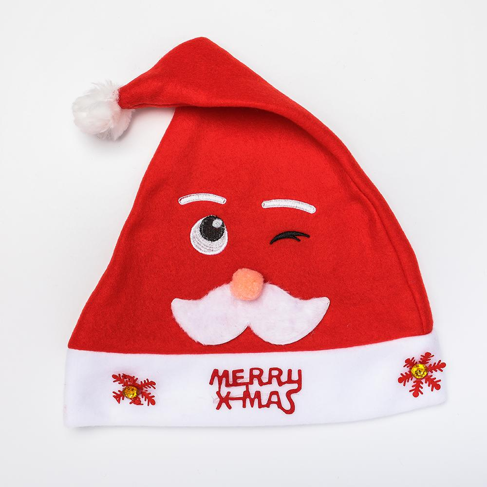 6f5b2af2ba3 2019 Christmas Decoration Cap Cartoon Funny Santa Claus Christmas Tree  Snowman Snowflake Deer Hat For Women Men Girls Boys From Longanguo
