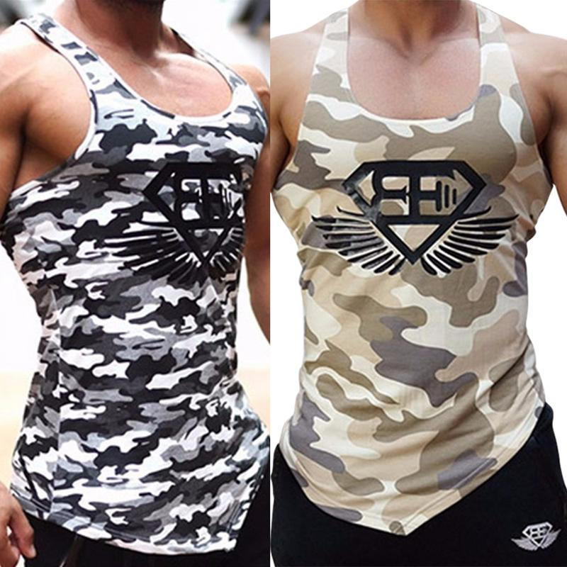 63532801 2019 Men Tank Tops Army Camo Camouflage Mens Bodybuilding Stringers Tank  Tops Singlet Brand Clothing Fitness Sleeveless Shirt Workout From Jianpin,  ...