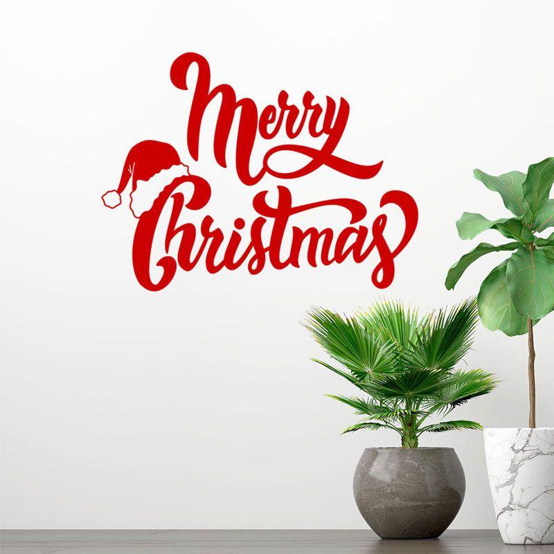 Großhandel Neujahr Frohe Weihnachten Wandaufkleber Home Shop Windows ...
