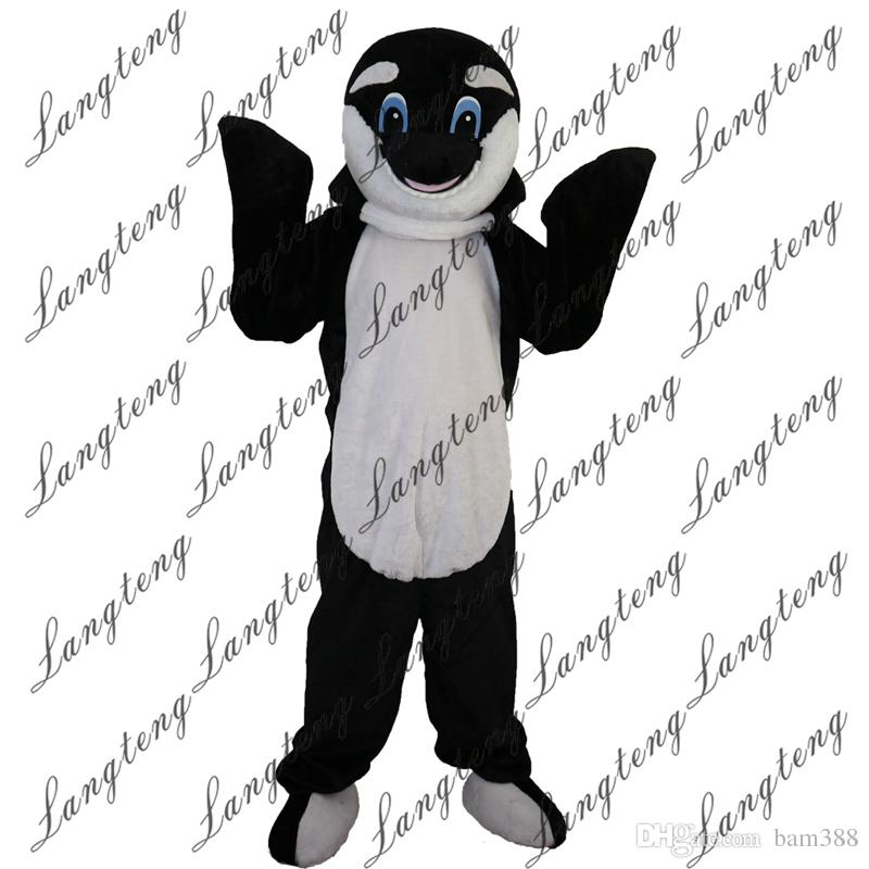 d7b25f11 2018 New high quality black dolphin Mascot costumes for adults circus  christmas Halloween Outfit Fancy Dress Suit Free Shipping003
