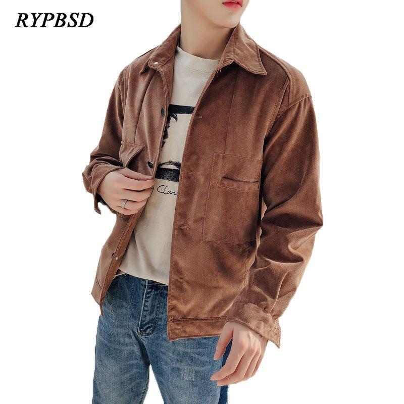 739e4e607a4 New Autumn Winter Corduroy Jacket Men Fashion Harajuku Retro Single  Breasted Slim Fit Oversized Hip Hop Streetwear Coats M 3XL Mens Jacket For  Sale White ...