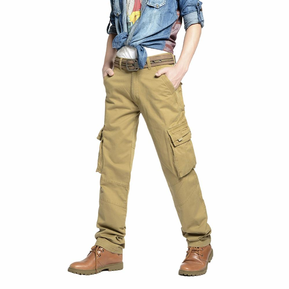 50165c0f84acf Satın Al BKZ Erkek Slim Fit Vintage Kargo Pantolon Ordu Düz Pantolon Rahat  Pamuk Çok Cepler Baggy Dış Giyim Taktik Pantolon, $30.17 | DHgate.Com'da