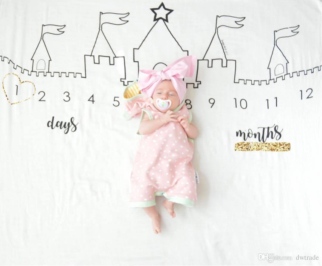 Ins Hot bébé nouveau-né Photographie fond Props bébé garçons filles Berceaux couvertures lettre Cartoon tissu Pâques décors couvertures pour bébés