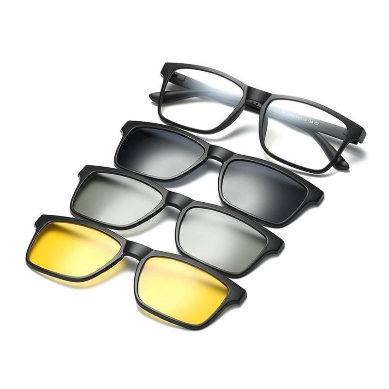b001cd2098 142 New TR Myopic Glasses Three-in-one Polarized Sunglasses Frame ...