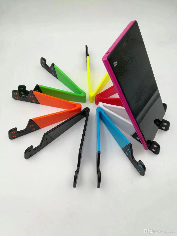 Dobrável Universal Celular Titular Suporte para Celular e Tablets Suporte Duplo Suporte de Dobrável em Forma de V para telefones Tablet PC Mout