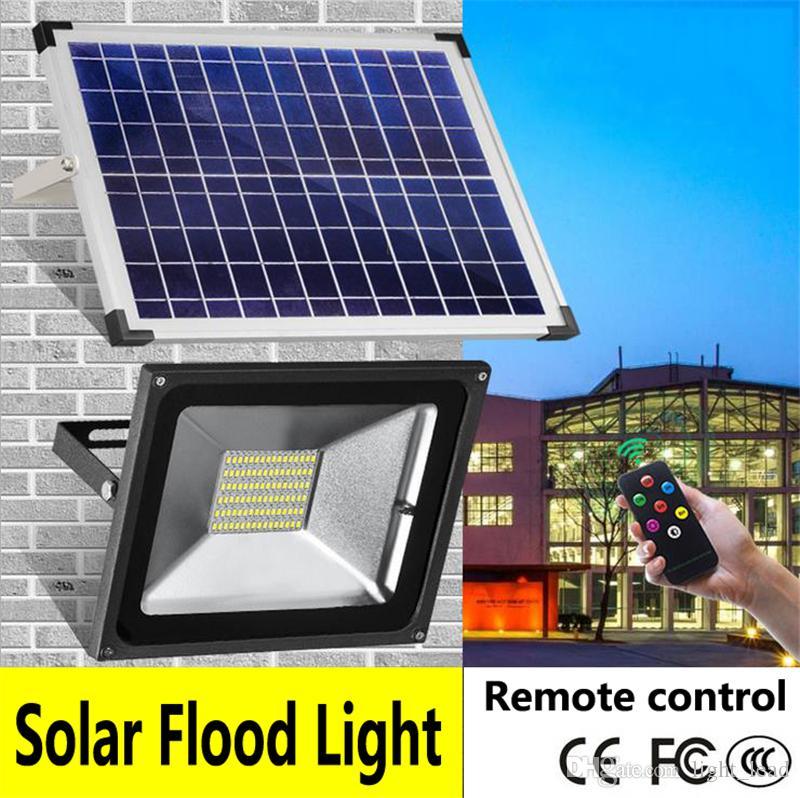Led Solar Flood Lights 10w 20w 30w 50w Remote Control Led