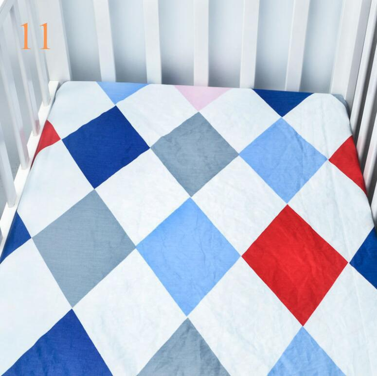 Low moq infant standard crib sheet baby boys and girls bedding sheets full size many designs