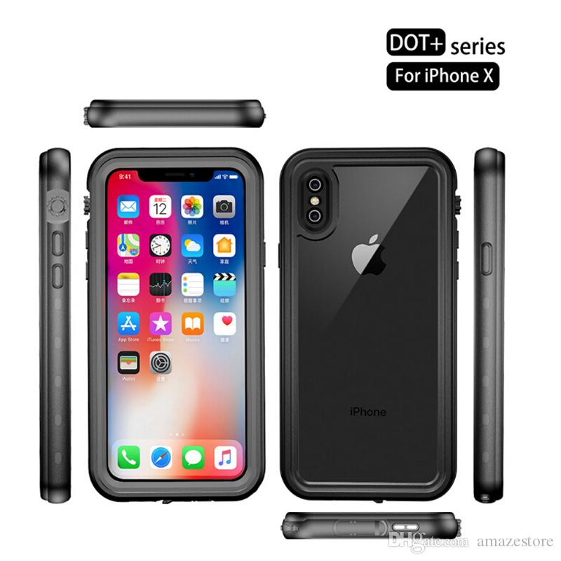 buy online 1b4a2 bfa87 For iPhone X Waterproof Case Redpepper Dive Swimming IP68 Shockproof  Snowproof Cover For iPhone X With Retail Package