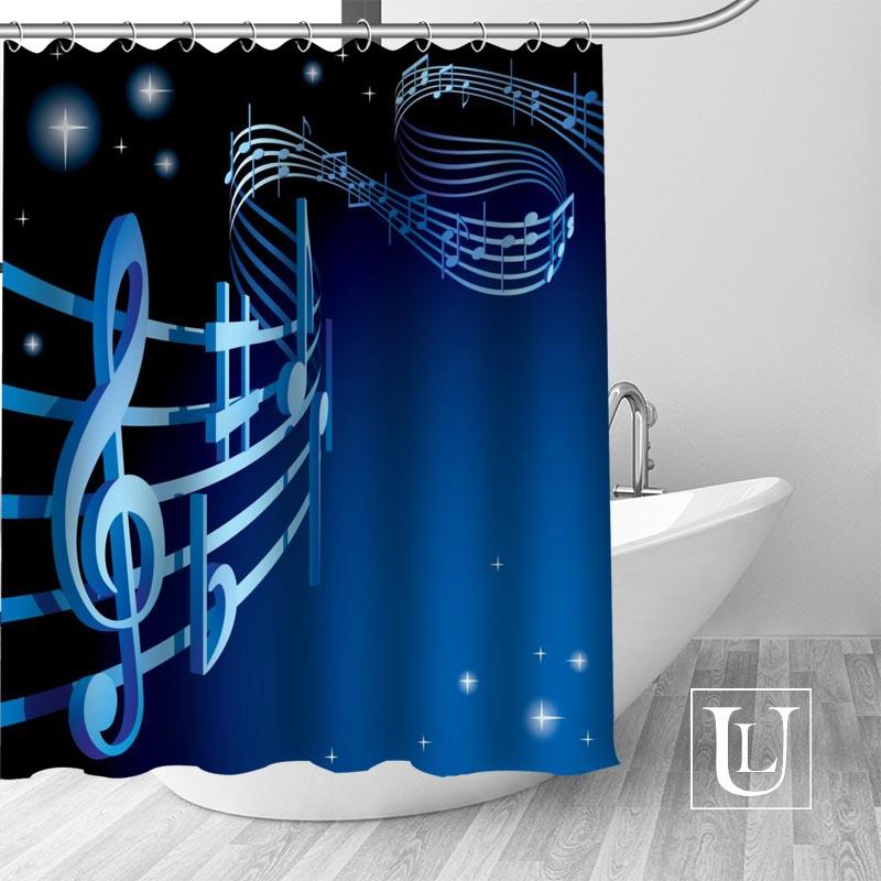 2019 Custom Shower Curtain Music Notes Bathroom Curtains High Quality Polyester Bath Home Hotel Decoration From Waxer 3348