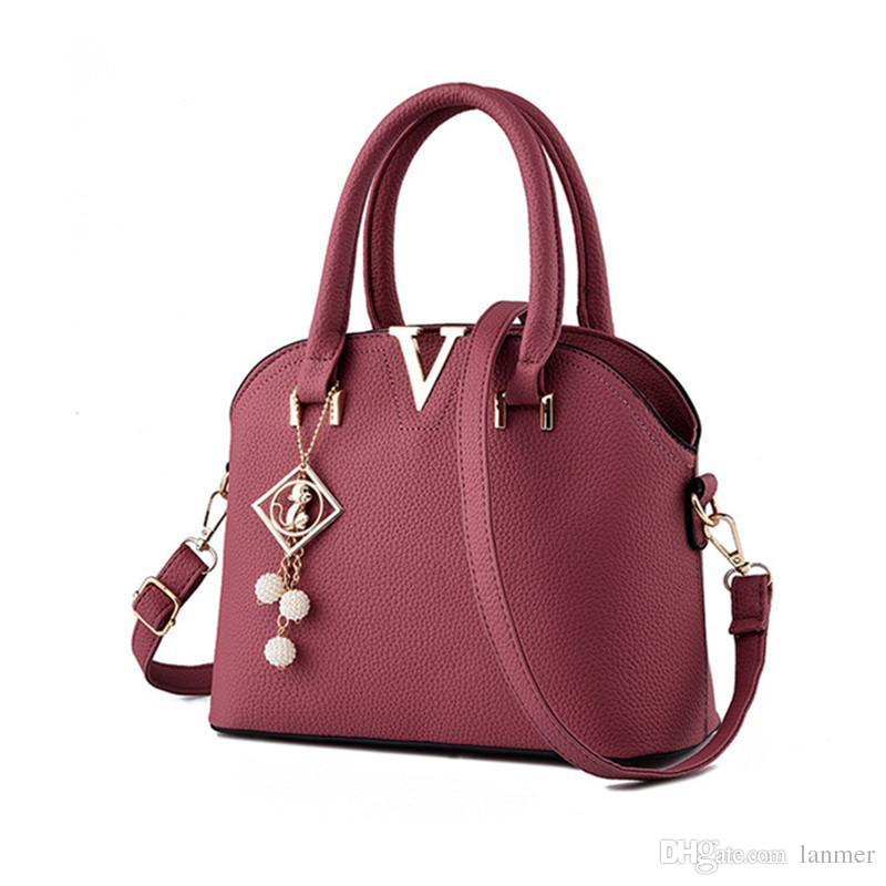 5f31069504 Wholesale Korean Style Luxury Women Bag Designer Handbags Women PU Leather  Shoulder Bags Shell Shaped Tote Large Messenger Bags Laptop Messenger Bags  Purses ...