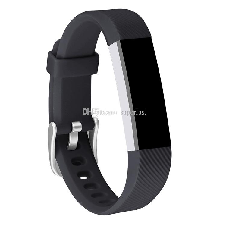 For Fitbit Alta Watch Silicone Replacement Straps Band Intelligent Smart Watch Bracelet Wrist Strap Band With Needle Clasp With Opp Package