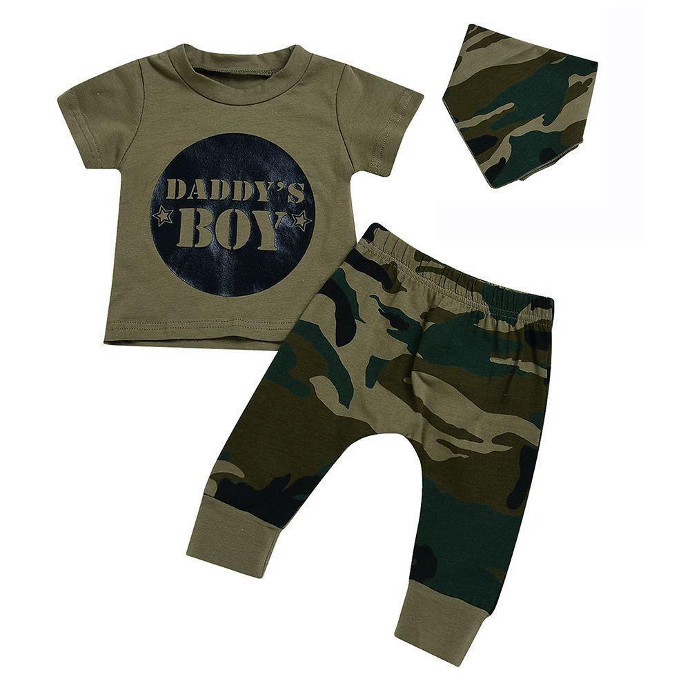 e22a5e2e5e33b New 0-24M Newborn Toddler Cotton Blend Clothing Set Summer Baby Boy Girl T-shirt  Tops+Pants Camouflage Outfits Set Clothes