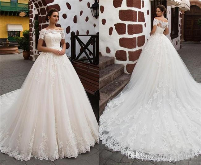 a7099adbee 2018 Vintage Lace A Line Wedding Dresses Romantic Princess Short ...