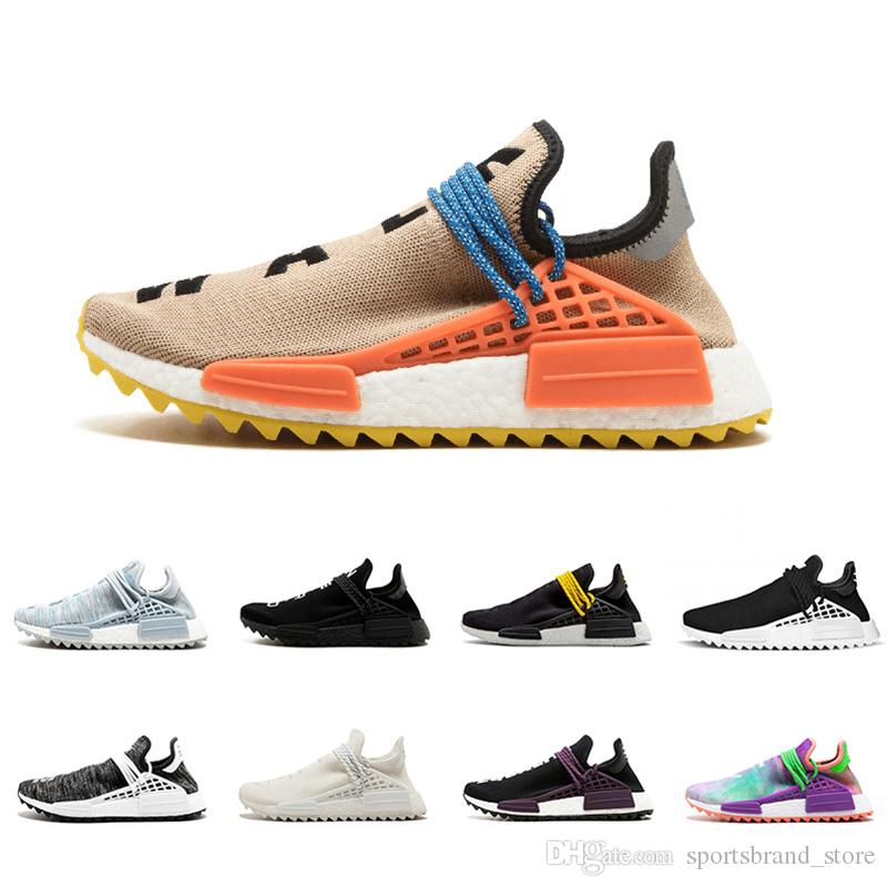 d53d49f10d009 Human Race Pale Nude Running Shoes Pharrell Williams Cream Core Black Nerd  Equality Holi Nobel Ink Trainers Mens Women Sports Sneaker Skechers Running  Shoes ...