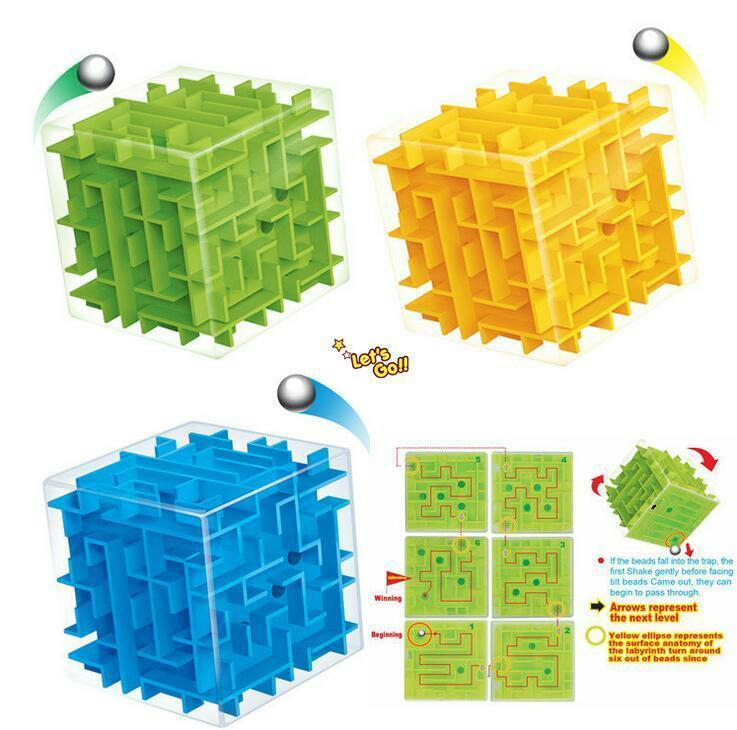 Puzzle Maze Magic Cube Toys Mini Speed Cube Puzzles Labyrinth Rolling Ball Cubos Magicos Learning Toy for Chilren Adults BBA222