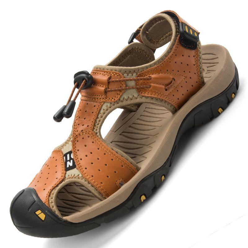 les sandales de cuir plage l'été nouvelle tendance coréenne chaussures baotou baotou chaussures b61b8d
