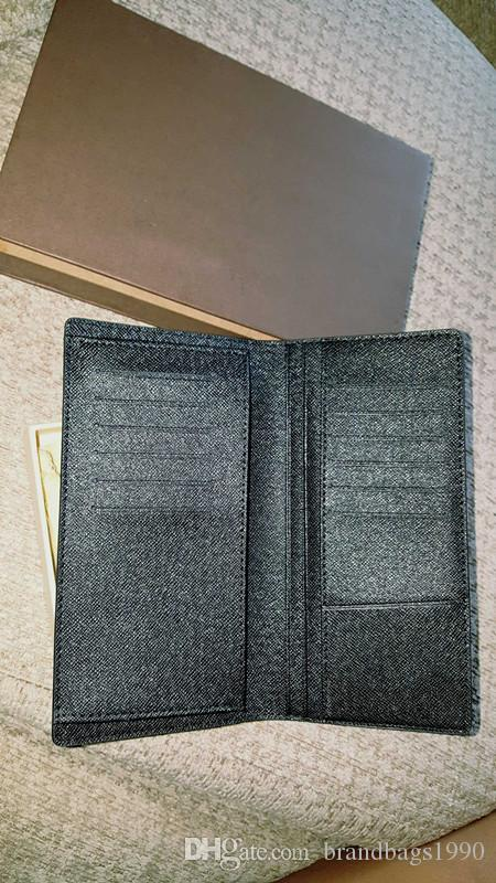 ! Fashion clutch Genuine leather wallet with box dust bag Women Men Purse Real Images Cheap Wholesale 62665