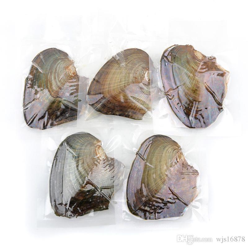 Commercio all'ingrosso Circa 25 perle d'acqua dolce naturali di colore intero Oyster, colore misto Confezionamento sottovuoto perla d'acqua dolce intero Shell Oyster