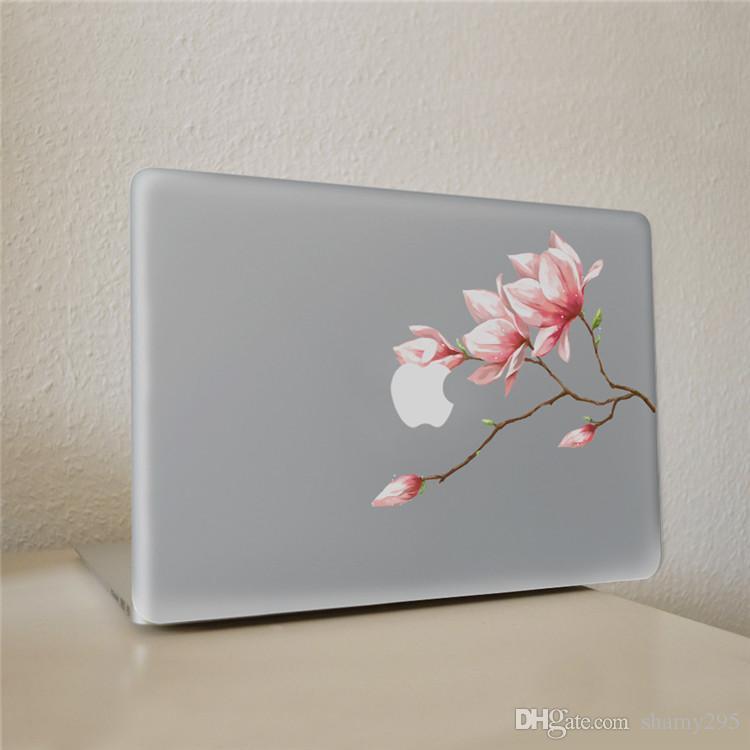 trasporto libero 2018 nuove vendite calde fiore rosa gemma Decalcomania del vinile adesivo notebook su Laptop Sticker MacBook Pro 11 13 15 pollici Laptop Skin
