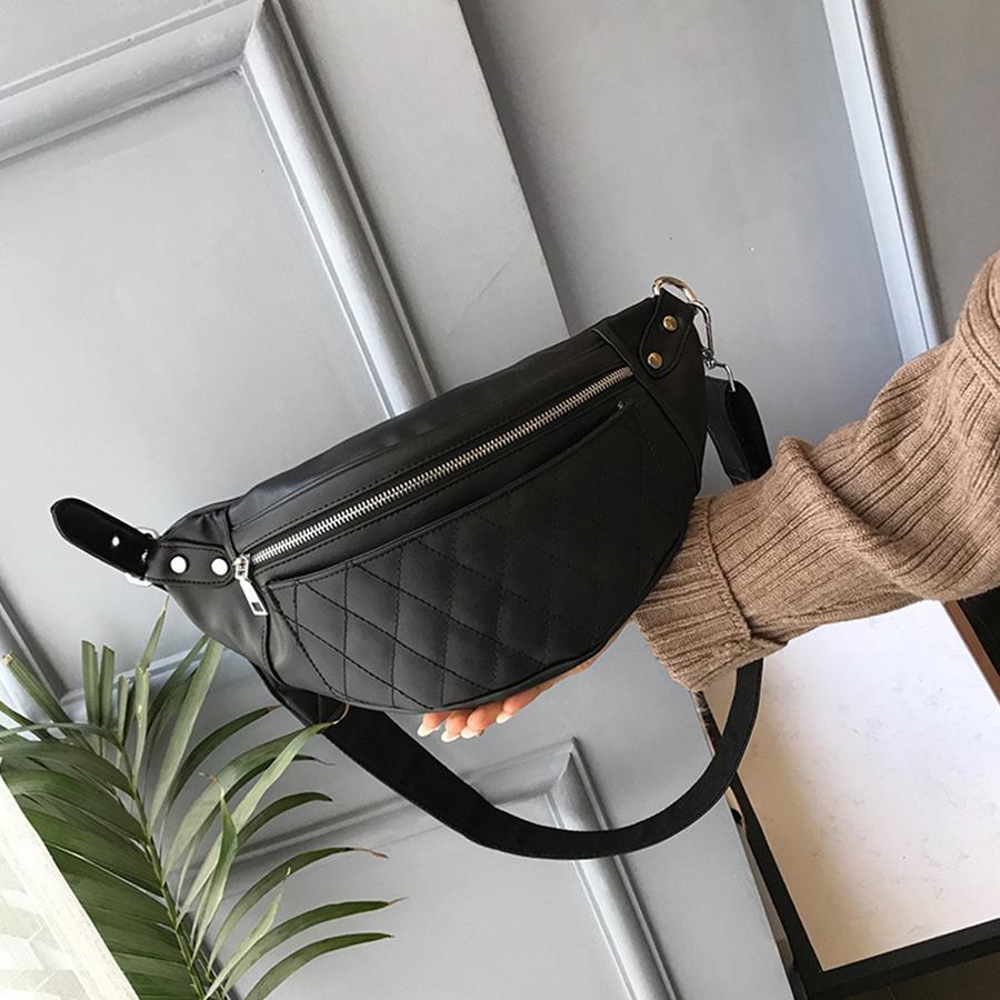 Gepäck & Taschen Einfach Frauen Persönlichkeit Taille Packs Trend Mode Niet Leder Fanny Gürtel Damen Mini Schulter Handtaschen Lässige Umhängetaschen Bolsa